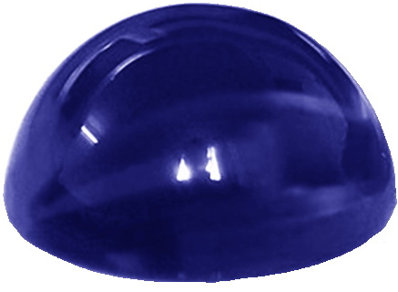 Natural Fine Medium Deep Blue Sapphire - Round Cabochon - Sri Lanka - AAA Grade