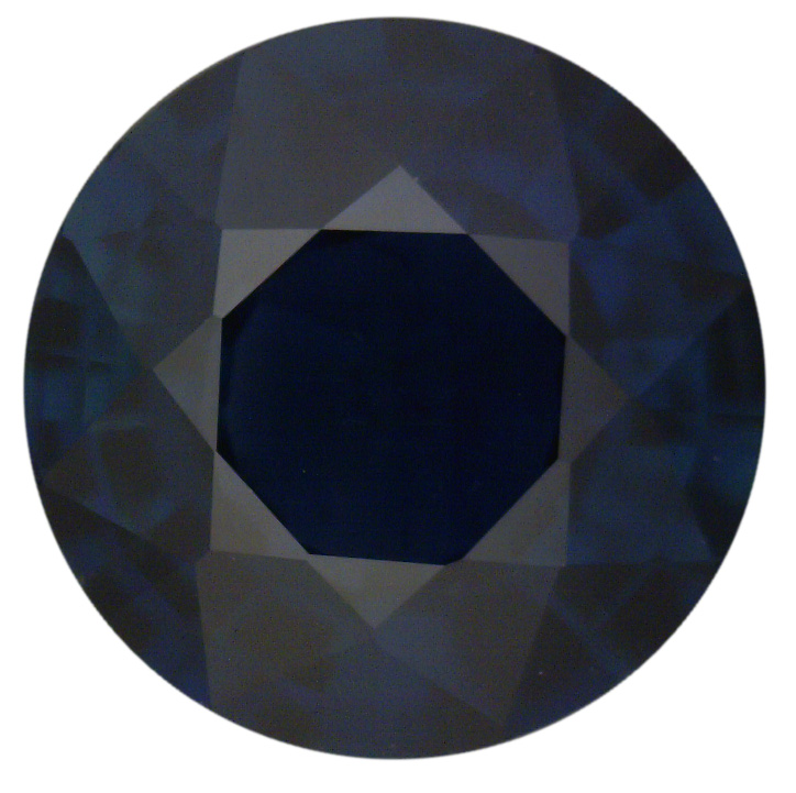 Natural Fine Deep Midnight Blue Sapphire - Round - Thailand - Select Grade - NW Gems & Diamonds