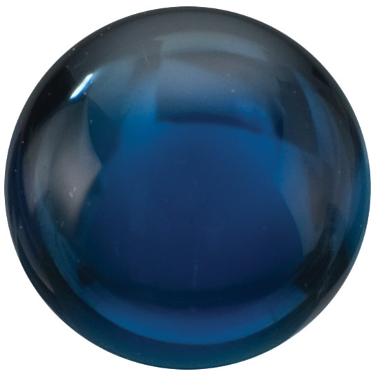 Natural Fine Deep Blue Sapphire - Round Cabochon - East Africa - Top Grade - NW Gems & Diamonds