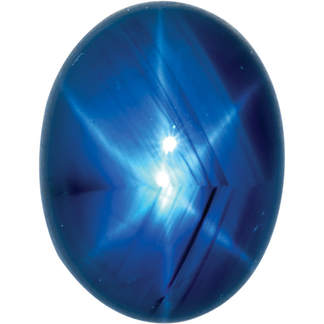 Natural Fine Blue Star Sapphire - Oval Cabochon - Unheated, Untreated - Sri Lanka - Top Grade - NW Gems & Diamonds