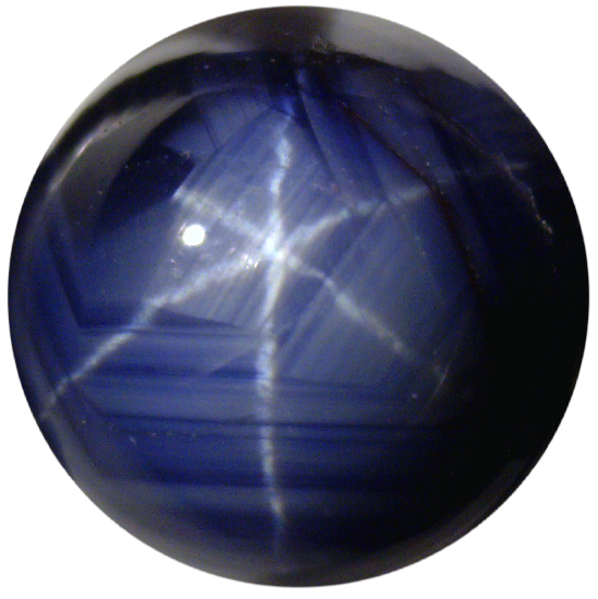 Natural Fine Medium Deep Blue Star Sapphire - Round Cabochon - Unheated, Untreated - Sri Lanka - Top Grade - NW Gems & Diamonds