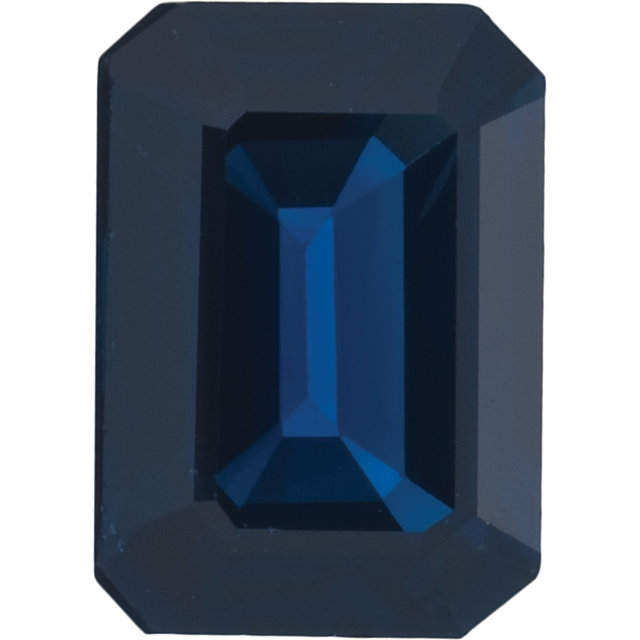 Natural Fine Medium Deep Blue Sapphire - Emerald Cut - East Africa - Top Grade - NW Gems & Diamonds