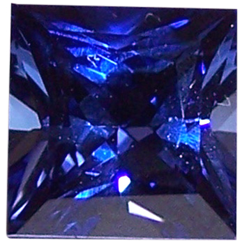 Natural Fine Vivid Blue Sapphire - Square Princess - Sri Lanka - AAA Grade