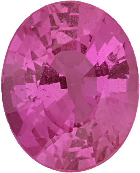 Natural Super Fine Deep Pink Sapphire - Oval - Sri Lanka - Super Fine Grade - NW Gems & Diamonds