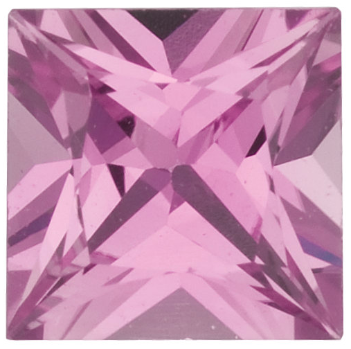 Natural Fine Rich Pink Sapphire - Square Princess - Sri Lanka - Top Grade - NW Gems & Diamonds
