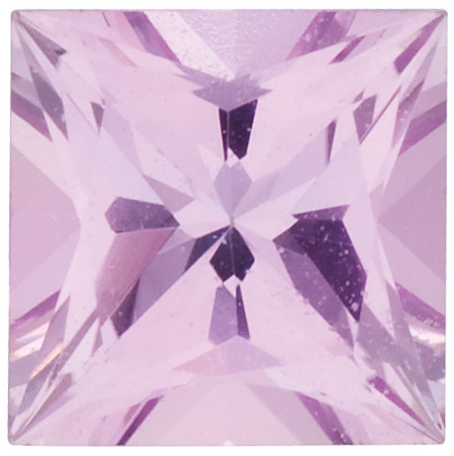 Natural Fine Pink Sapphire - Square Princess - Sri Lanka - Select Grade - NW Gems & Diamonds