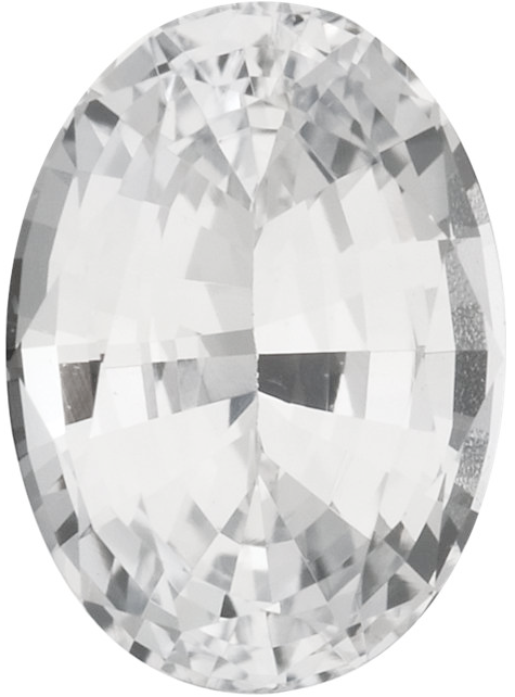 Natural Fine White Sapphire - Oval - East Africa - Top Grade - NW Gems & Diamonds