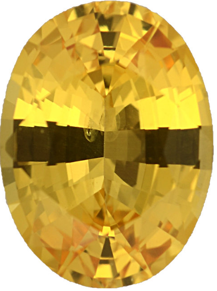 Natural Fine Deep Yellow Sapphire - Oval - Sri Lanka - Top Grade - NW Gems & Diamonds