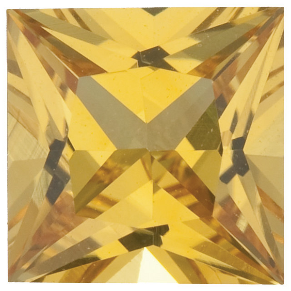 Natural Fine Rich Yellow Sapphire - Square Princess - Sri Lanka - Top Grade - NW Gems & Diamonds