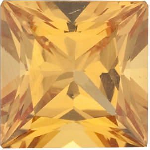 Natural Extra Fine Amber Yellow Sapphire - Square Princess - Sri Lanka - Extra Fine Grade - NW Gems & Diamonds