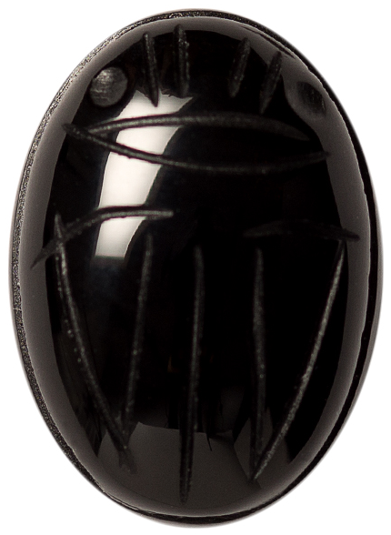 Natural Fine Black Onyx Scarab - Oval - Brazil - AAA Grade