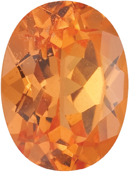 Natural Fine Rich Mandarin Orange - Oval - Brazil - Top Grade - NW Gems & Diamonds