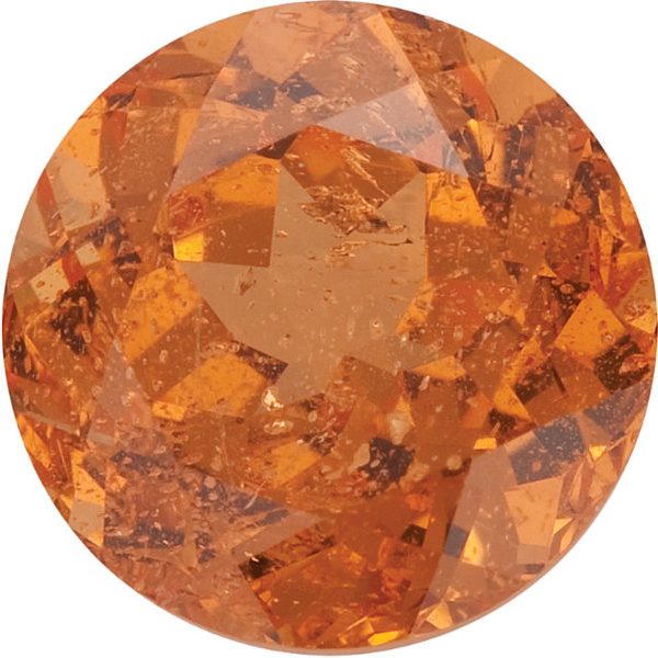 Natural Fine Mandarin Orange - Round - Brazil - Select Grade - NW Gems & Diamonds