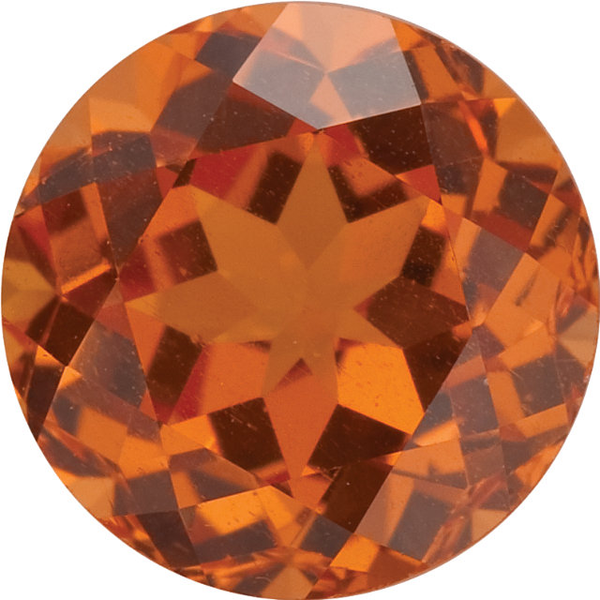 Natural Fine Rich Mandarin Orange - Round - Brazil - Top Grade - NW Gems & Diamonds
