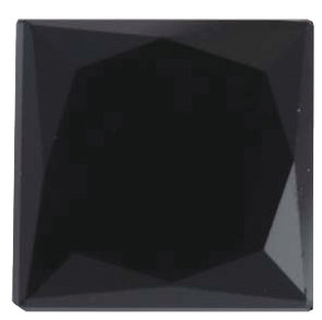 Natural Fine Black Spinel - Square Princess - Madagascar - Top Grade - NW Gems & Diamonds
