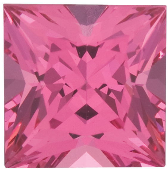 Natural Extra Fine Rich Pink Spinel - Square Princess - Sri Lanka - Extra Fine Grade - NW Gems & Diamonds