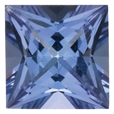 Natural Fine Blue Violet Tanzanite - Square Princess - Tanzania - Top Grade - NW Gems & Diamonds