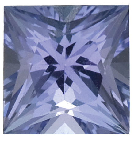 Natural Fine Violet Tanzanite - Square Princess - Tanzania - Select Grade - NW Gems & Diamonds