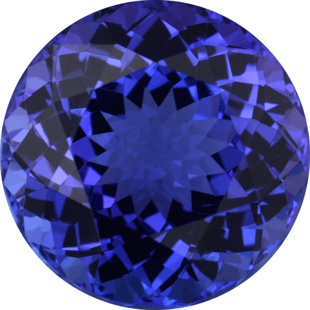 Natural Fine Rich Blue Purple Tanzanite - Round - Tanzania - Top Grade - NW Gems & Diamonds