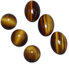 Natural Fine Gold Bronze Tiger's Eye - Round Cabochon - South Africa - AAA Grade