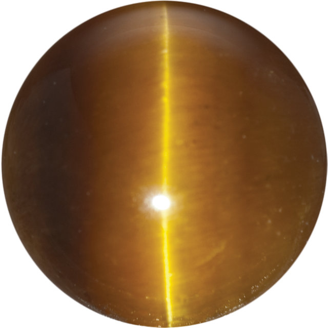 Natural Fine Deep Gold Bronze Tigereye - Round Cabochon - South Africa - Top Grade - NW Gems & Diamonds