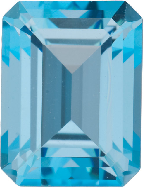 Natural Fine Ice Blue Topaz - Emerald Cut - Brazil - Top Grade - NW Gems & Diamonds