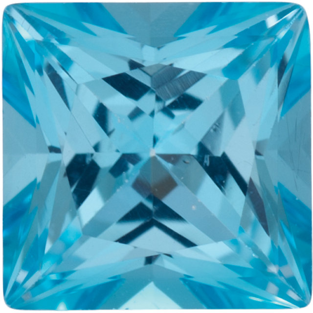 Natural Fine Ice Blue Topaz - Square Princess - Brazil - Top Grade - NW Gems & Diamonds