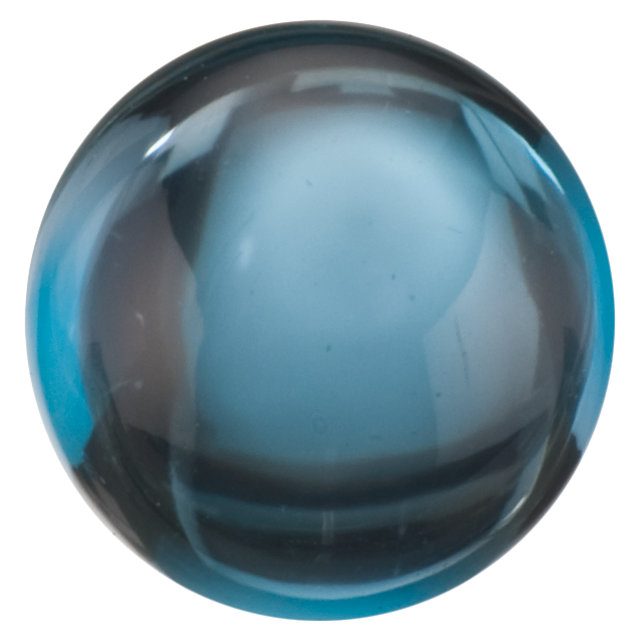 Natural Extra Fine London Blue Topaz - Round Cabochon - Brazil - AAA+ Grade