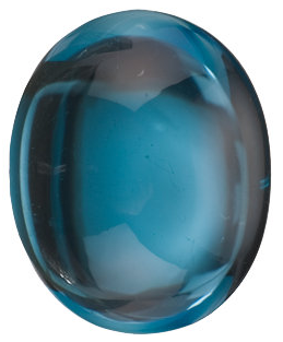 Natural Extra Fine London Blue Topaz - Oval Cabochon - Brazil - AAA+ Grade