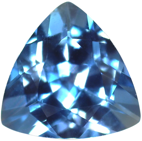 Natural Fine London Blue Topaz - Trillion - Namibia - AAA Grade