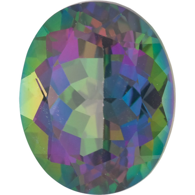 Natural Fine Mystic Green Topaz - Oval - Brazil - Top Grade - NW Gems & Diamonds