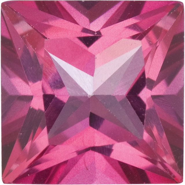Natural Fine Mystic Pink Topaz - Square Princess - Brazil - Top Grade - NW Gems & Diamonds