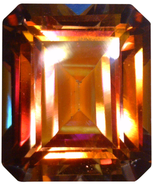Natural Fine Rich Mystic Sunrise Topaz - Emerald Cut - Brazil - Top Grade - NW Gems & Diamonds