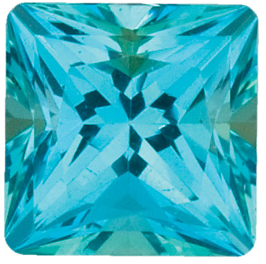 Natural Fine Paraiba Blue Topaz - Square Princess - Brazil - Top Grade - NW Gems & Diamonds