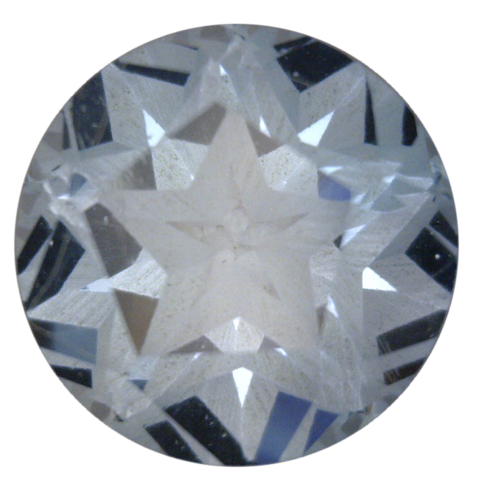 Natural Fine Light Sky Blue Topaz - Round Texas Star - Brazil - Top Grade - NW Gems & Diamonds