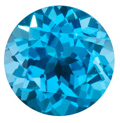 Natural Fine Swiss Blue Topaz - Round - Brazil - Top Grade - NW Gems & Diamonds