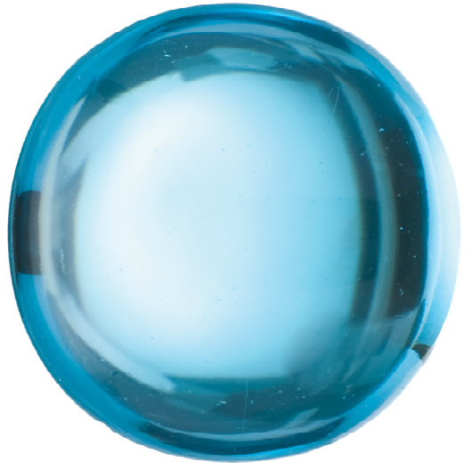 Natural Fine Swiss Blue Topaz - Round Cabochon - Brazil - AAA Grade