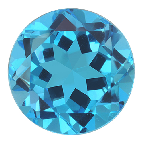Natural Fine Vivid Swiss Blue Topaz - Round - Nigeria - Top Grade - NW Gems & Diamonds