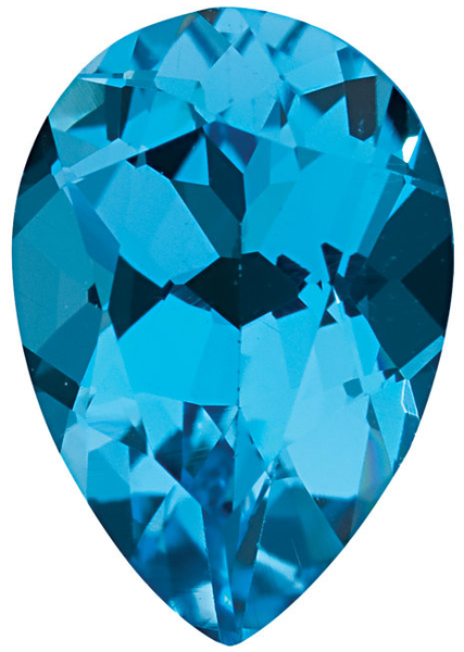 Natural Fine Swiss Blue Topaz - Pear Shape - Brazil - AAA Grade