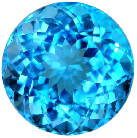 Natural Fine Intense Swiss Blue Topaz - Round - Brazil - Top Grade - NW Gems & Diamonds