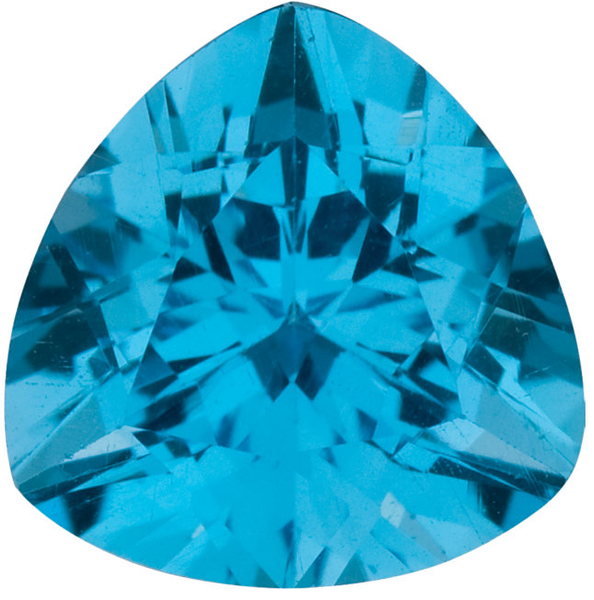 Natural Fine Swiss Blue Topaz - Trillion - Brazil - AAA Grade