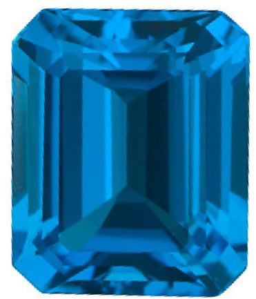 Natural Fine Swiss Blue Topaz - Emerald Cut - Brazil - Top Grade - NW Gems & Diamonds