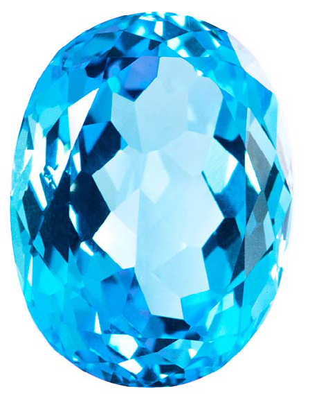 Natural Fine Swiss Blue Topaz - Oval - Namibia - Top Grade - NW Gems & Diamonds