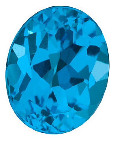 Natural Fine Swiss Blue Topaz - Oval - Brazil - Top Grade - NW Gems & Diamonds