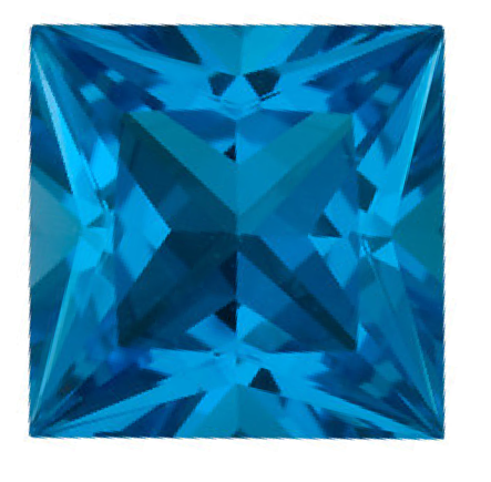 Natural Fine Swiss Blue Topaz - Square Princess - Brazil - Top Grade - NW Gems & Diamonds
