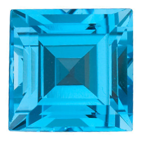Natural Fine Swiss Blue Topaz - Square Step - Brazil - Top Grade - NW Gems & Diamonds