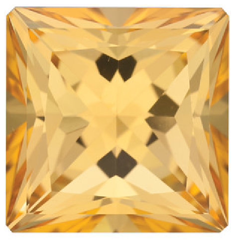 Natural Fine Honey Yellow Topaz - Square Princess - Brazil - Top Grade - NW Gems & Diamonds