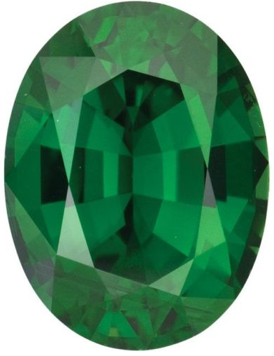 Natural Fine Vivid Green Chrome Tourmaline - Oval - Tanzania - Top Grade - NW Gems & Diamonds