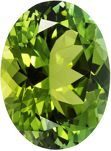 Natural Fine Vibrant Apple Green Tourmaline - Oval - East Africa - Top Grade - NW Gems & Diamonds
