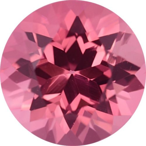 Natural Fine Intense Pink Tourmaline - Round - Madagascar - Top Grade - NW Gems & Diamonds
